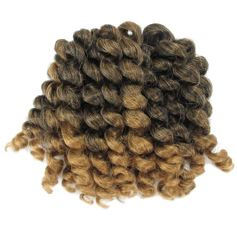 1 Piece Afro Synthetic Wand Curl Hair Extension - COLORMIX