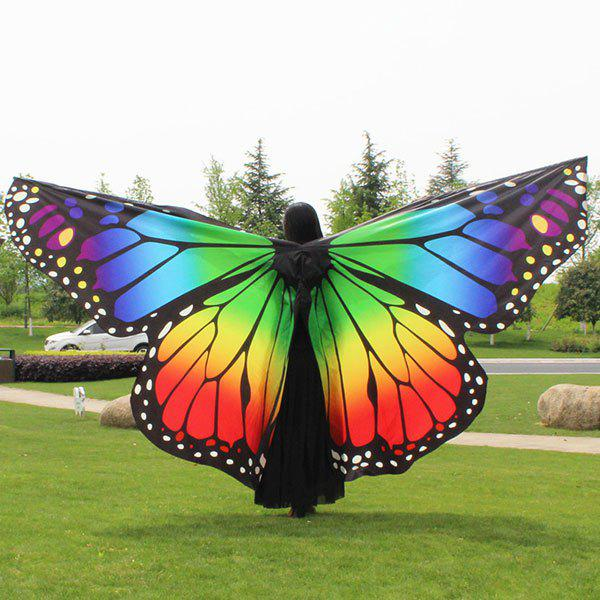 Water Resistant Butterfly Wing Cape Chiffon Pashmina - coloré