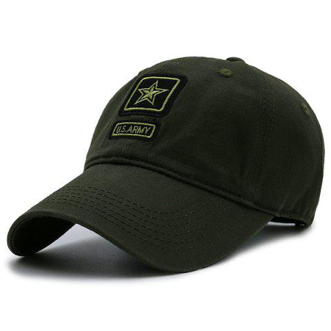 Star Embellished Army Element Baseball Hat - ARMY GREEN
