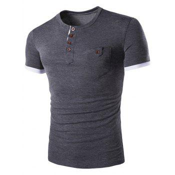 Men's Casual Solid Color Round Color Short Sleeves T-Shirt