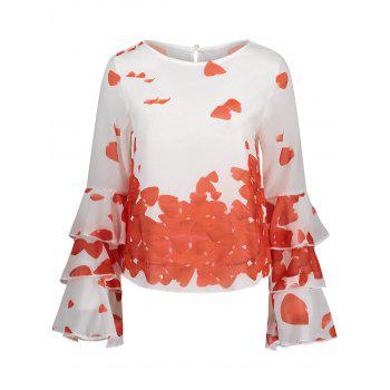 Bell Sleeve Printed Layer Blouse - JACINTH JACINTH