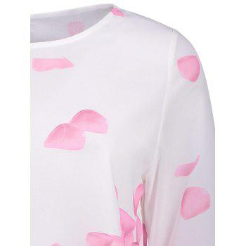 Bell Sleeve Printed Layer Blouse - PINK PINK
