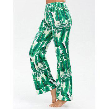 Palazzo Pants with Palm Print