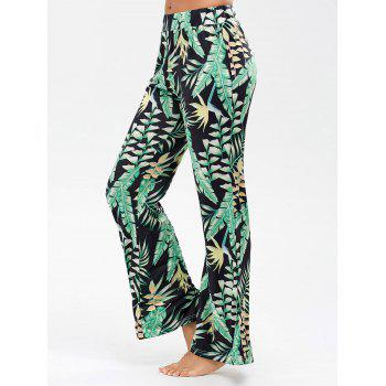 Palazzo Pants with Palm Leaf Print
