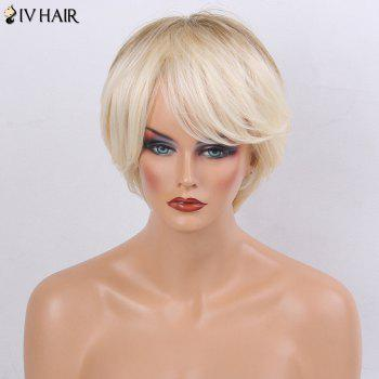 Siv Hair Ombre Short Side Bang Silky Straight Layered Human Hair Wig