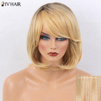 Siv Hair Side Bang Tail Adduction Short Straight Bob Colormix Human Hair Wig