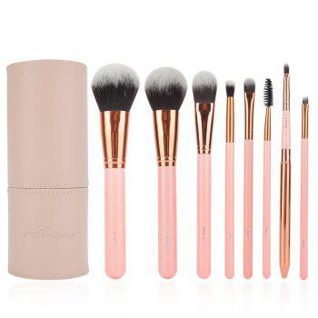 Classic 8 Pcs Fiber Makeup Brushes Set with Brush Holder