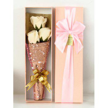 Festival Gift Simulation Rose Soap Flowers with Gift Box