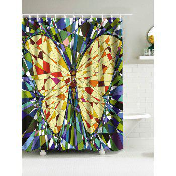 Butterfly Fragment Panel Print Waterproof Fabric Shower Curtain