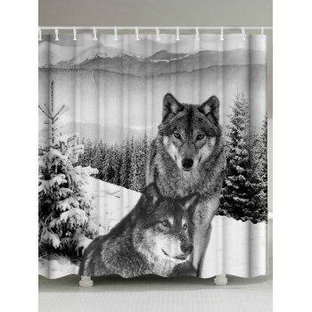 Wolf Animal Waterproof Unique Shower Curtain