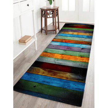 Coral Velvet Color Stripe Large Area Rug