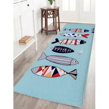 Cartoon Fish Soft Coral Velvet Area Rug