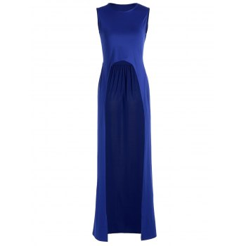Sleeveless Maxi T-Shirt with Front Split