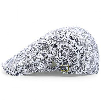 Retro Paisley Pattern Newsboy Hat