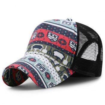 Mesh Spliced Cartoon Pattern Baseball Hat