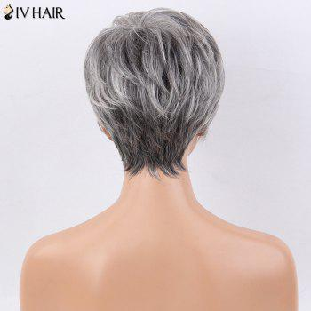 Siv Hair Short Side Bang Natural Straight Layered Human Hair Wig - COLORMIX