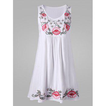 Flower Embroidery Sleeveless Dress