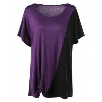 Plus Size Two Tone Top