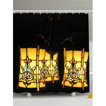 Lantern Fabric Shower Curtain