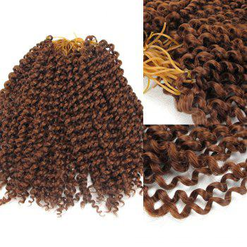 Shaggy Jerry Curl Afro Synthetic Hair Extension - AUBURN BROWN #30 AUBURN BROWN