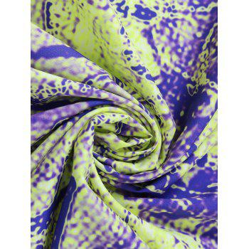 Round Tie Dye Flower Print Beach Throw - ONE SIZE ONE SIZE