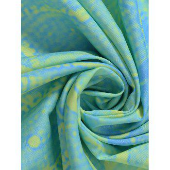 Round Tie Dye Flower Print Beach Throw - LIGHT GREEN ONE SIZE