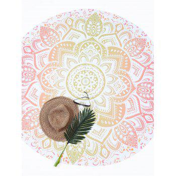 Lotus Flower Round Beach Throw - GINGER ONE SIZE