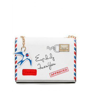 Envelope Printed Chain Crossbody Bag