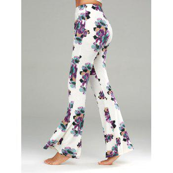 Casual Floral Print Flare Pants