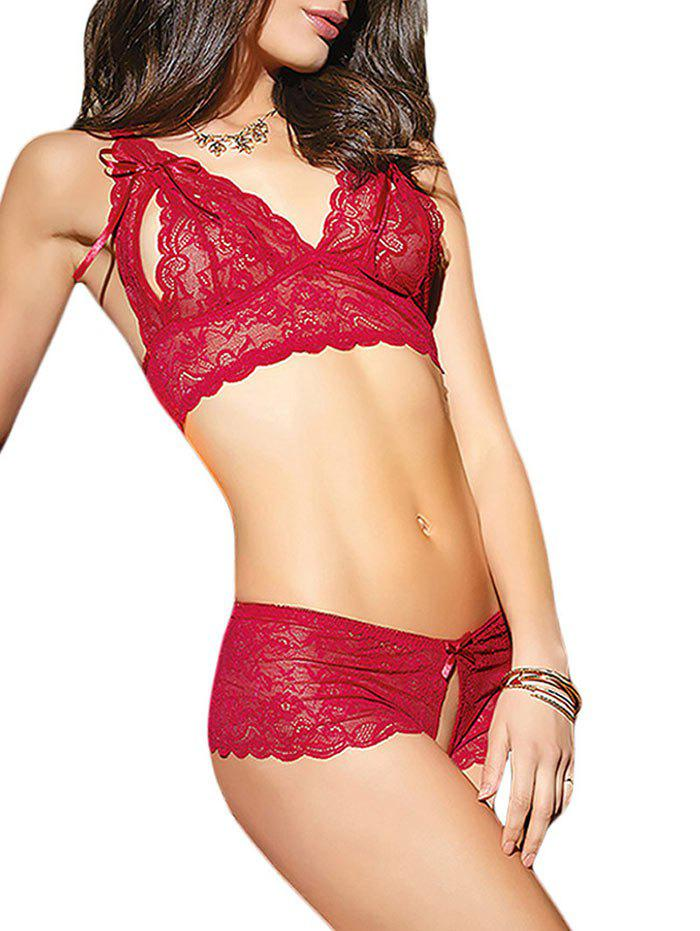 41 Off 2020 See-Through Scalloped Skimpy All Lace -7209
