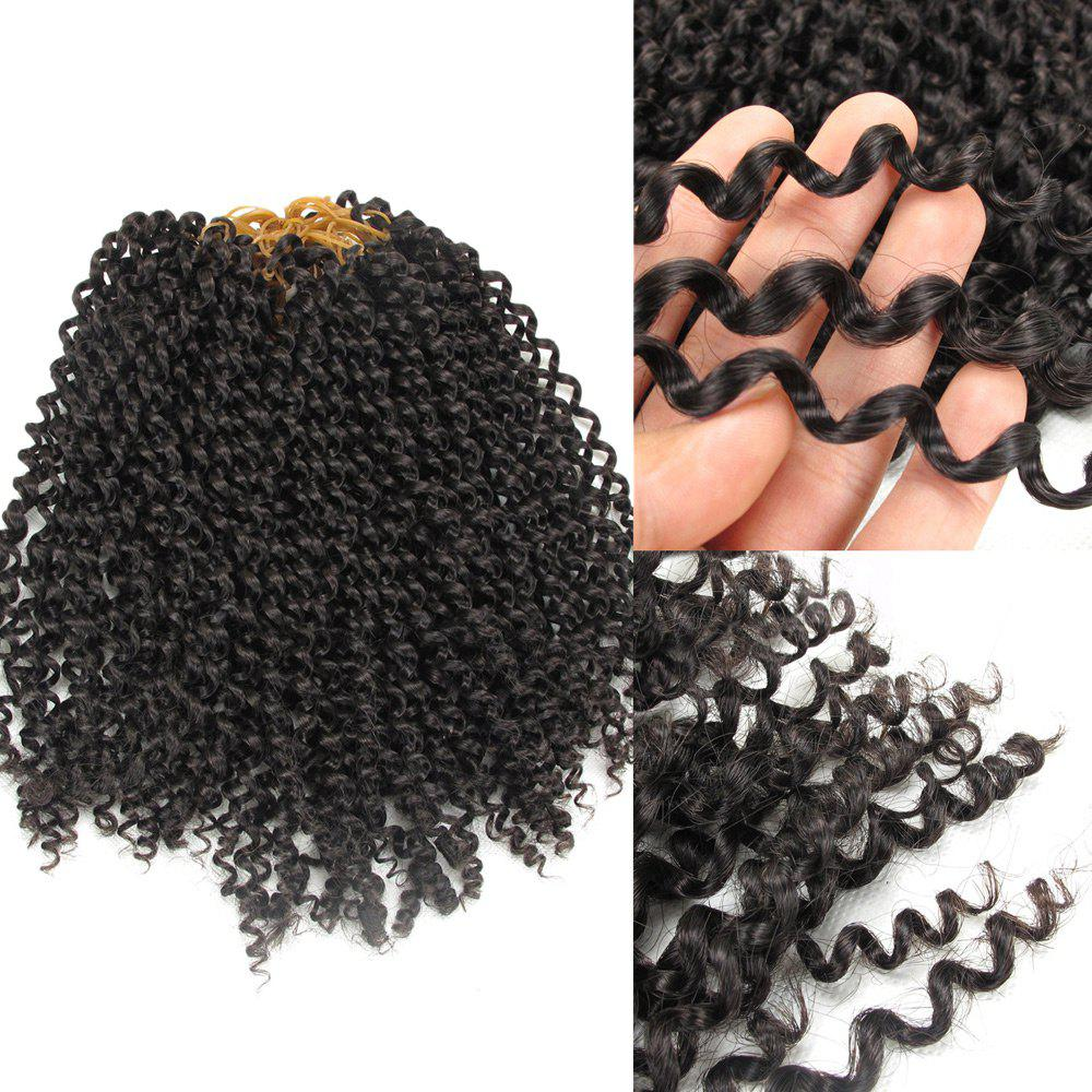 Shaggy Jerry Curl Afro Synthetic Hair Extension - DARK AUBURN