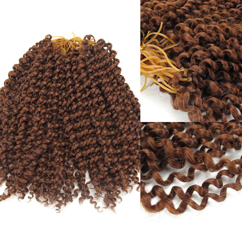 Shaggy Jerry Curl Afro Synthetic Hair Extension - AUBURN BROWN