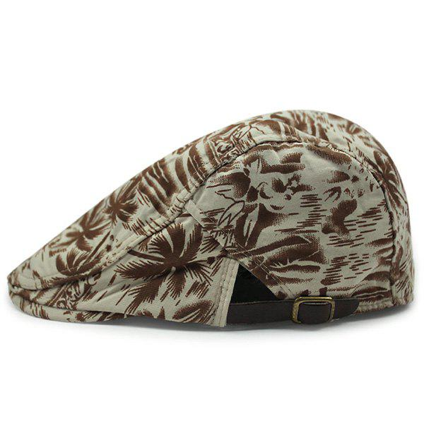 Coconut Palm Sea Printing Flat Hat fashion handpainted palm sea sailing pattern hot summer jazz hat for boys