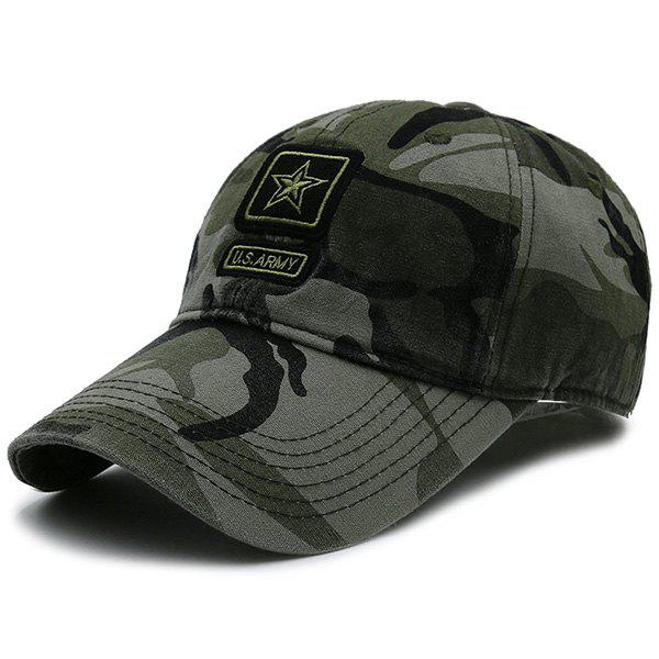 Star Embellished Army Element Baseball Hat - CAMOUFLAGE