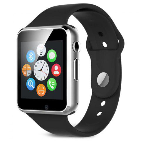 A1 Bluetooth Smart Watch Phone with Sleep Monitor Camera Single SIM - BLACK