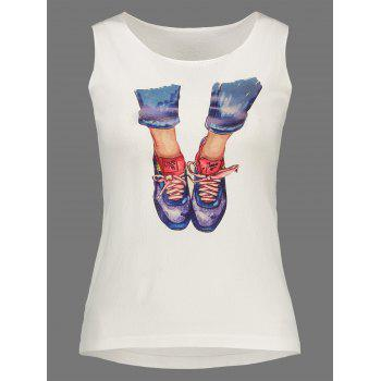 Knitted Feet Graphic Tank Top