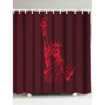 Statue of Liberty Printed Shower Curtain