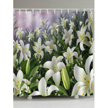 Pastoral Lily Flowers Bathroom Shower Curtains