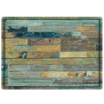 Wood Flooring Print Water Absorbing Bathroom Floor Mat