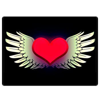 Heart with Wings Bathroom Floor Mat