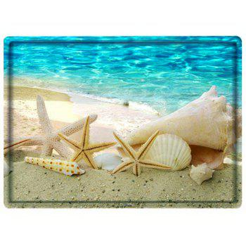Beach Conch Starfish Bathroom Floor Mat