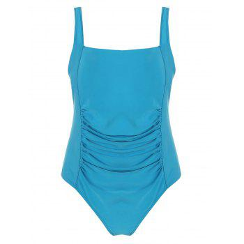 Plus Size Ruched One Piece Swimwear