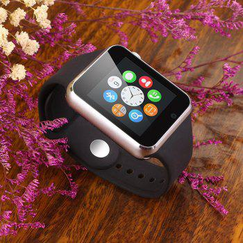 A1 Bluetooth Smart Watch Phone avec Sleep Monitor Camera Single SIM - Noir