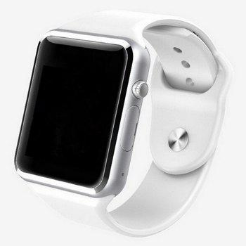 A1 Bluetooth Smart Watch Phone with Sleep Monitor Camera Single SIM - WHITE