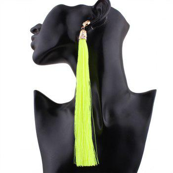 Alloy Embellished Extra Long Tassel Hook Earrings
