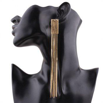 Alloy Extra Long Fringed Chain Earring