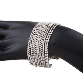 Alloy Multilayered Rhinestone Chain Bracelet