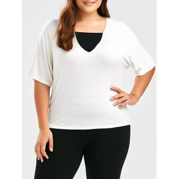 Dolman Sleeve Plus Size Caual T-Shirt