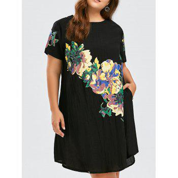 Floral Print Plus Size Baggy Dress