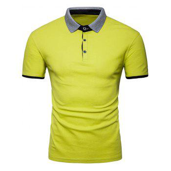 Half Buttoned Panel Polo Shirt